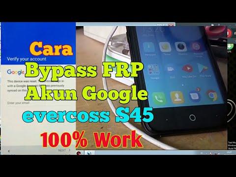 Cara Bypass Frp Bypass Akun Google Flash Evercoss S45 Youtube