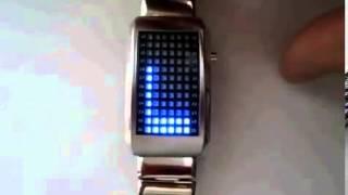 Blue LED Watch Black Светодиодные часы с голубым дисплеем и 72 светодиодами(, 2013-07-29T14:00:51.000Z)