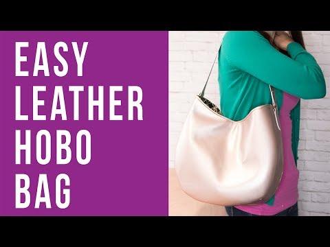 How To Make An Easy Leather Hobo Bag