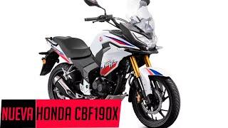 Gambar cover NUEVA Honda CBF 190X ¿La mejor moto de viaje de bajo cilíndraje? Precio y Ficha técnica (CBF190X)