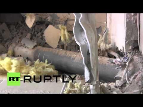 Ukraine: Grads leave Donetsk home in ruins amidst fragile ceasefire