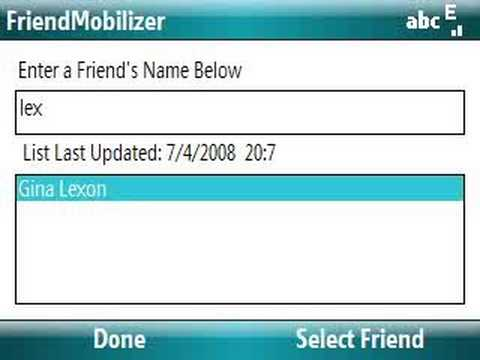 Facebook Application on Samsung BlackJack II