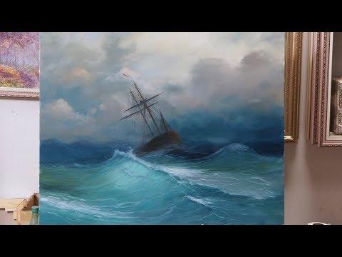 Море. По мотивам Айвазовского. Sea Oil Paints