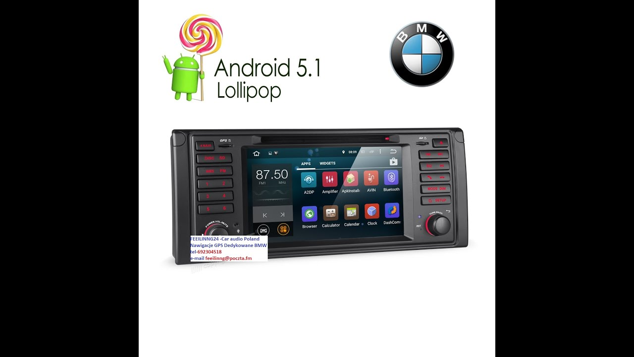 Android 51 Radio Gps Bmw 5 E39x5 Feeilinng24 Car Audio Poland