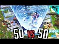 50v50 - Fortnite Random Squad Highlights & Fails Gameplay