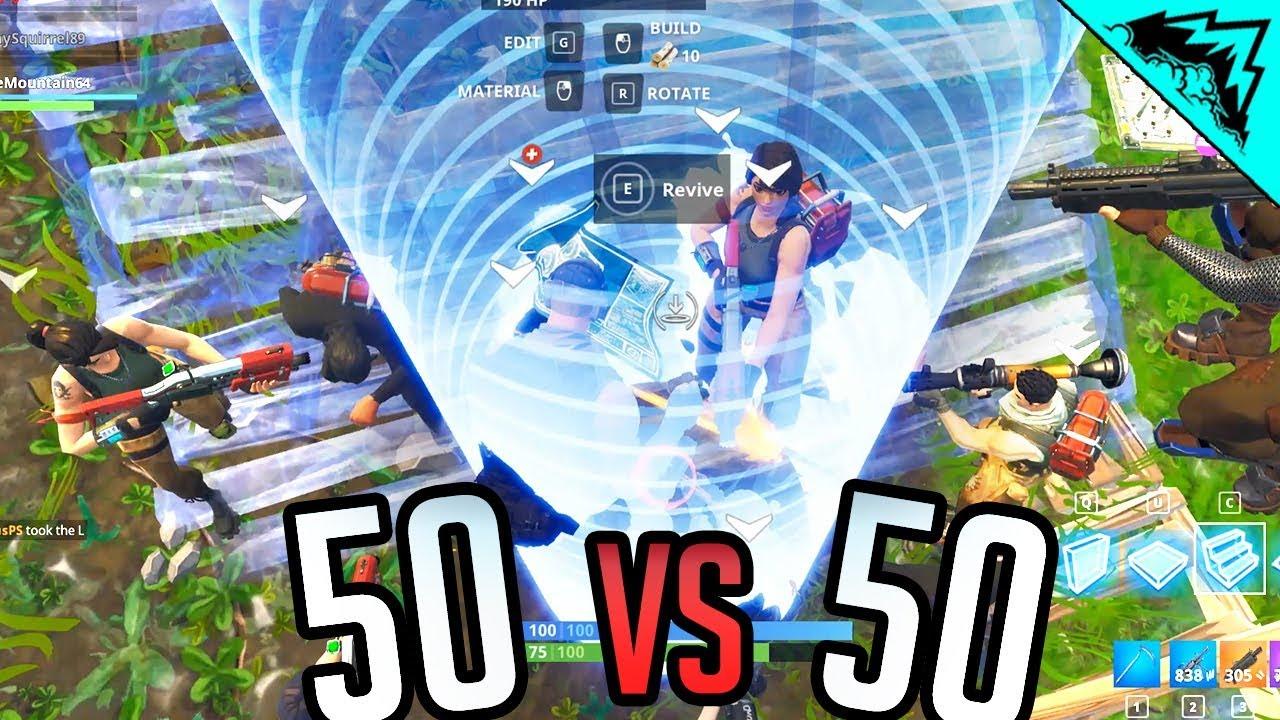 50v50 - Fortnite Random Squad Highlights & Fails Gameplay