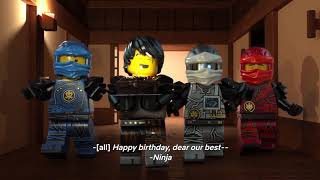 Ninjago : Happy Birthday Cake & Wishes