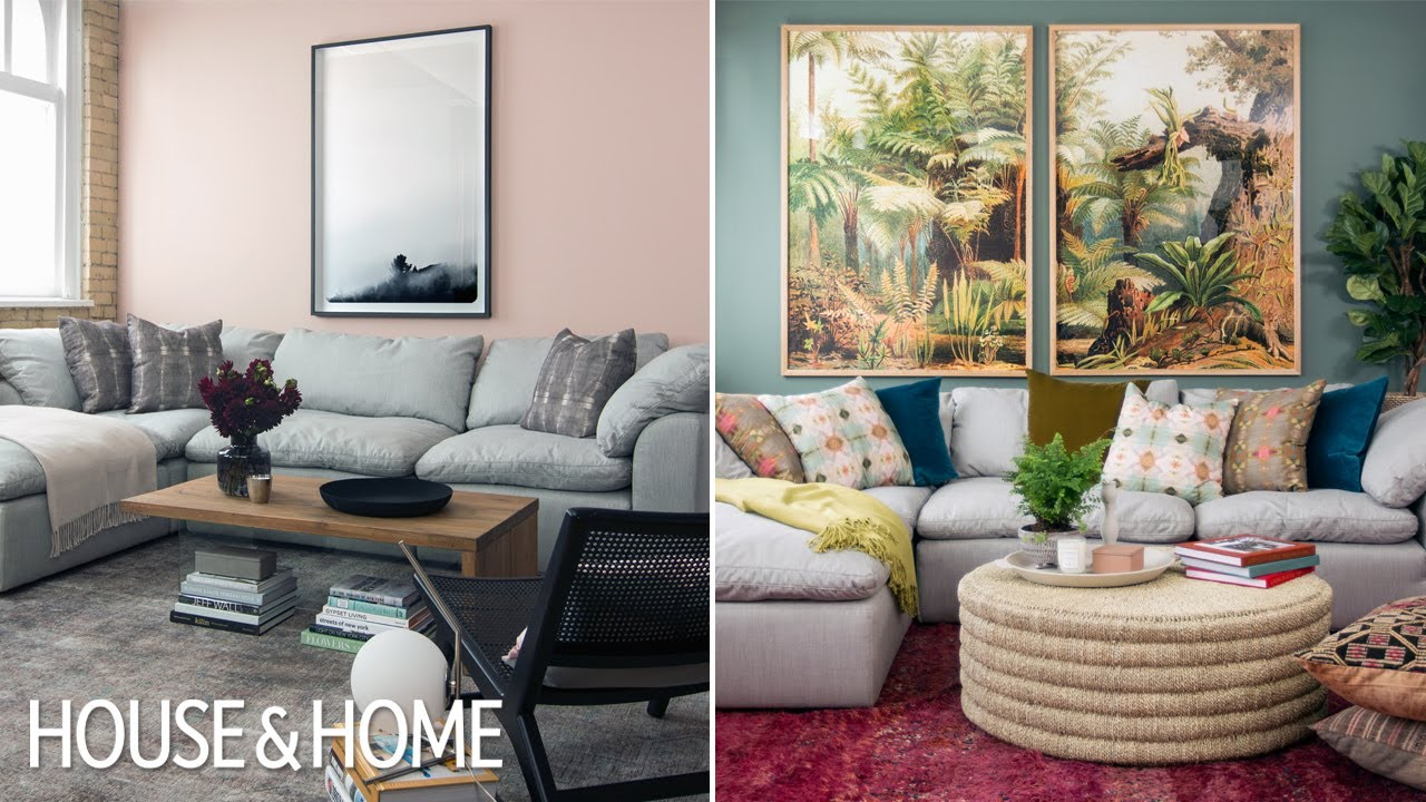 One Sectional Sofa, Two Living Room Looks! | H&H Design Challenge ...