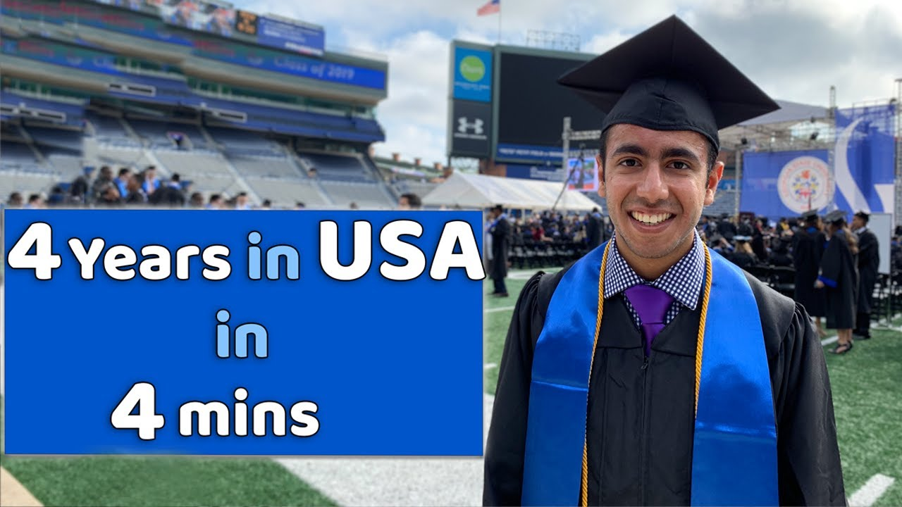 My 4 Years in College in 4 mins! INDIA to AMERICA!