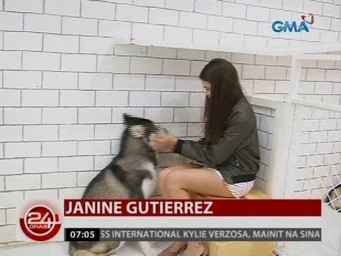 24 Oras: Janine Gutierrez at ibang Kapuso stars, enjoy sa dog cafe