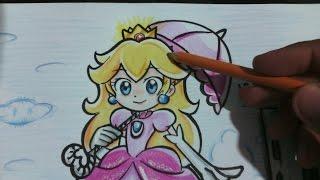 How to draw princess Mario / COMO DIBUJAR A LA PRINCESA PEACH dibuja con lex