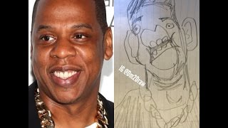 How to draw Jay Z