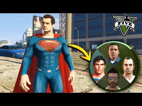 GTA V MODS: SUPERMAN EN GTA 5 !!