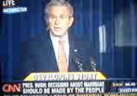 Bush statement on Federal Marriage Amendment