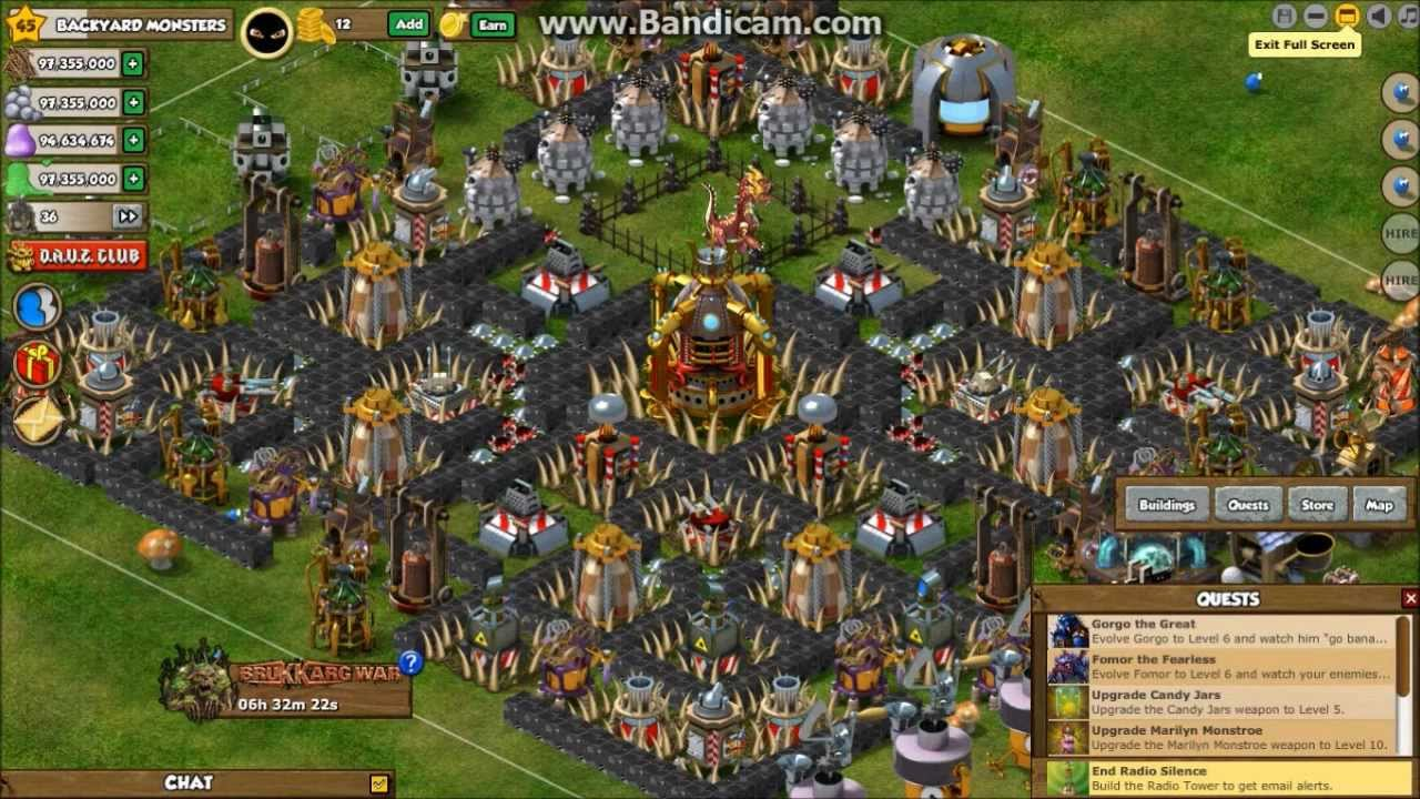 Backyard Monsters Base backyard monsters dark base of death v1 level 10 town hall 1 expand