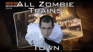 Black Ops 2 Zombies - All rape trains in Green Run - Town