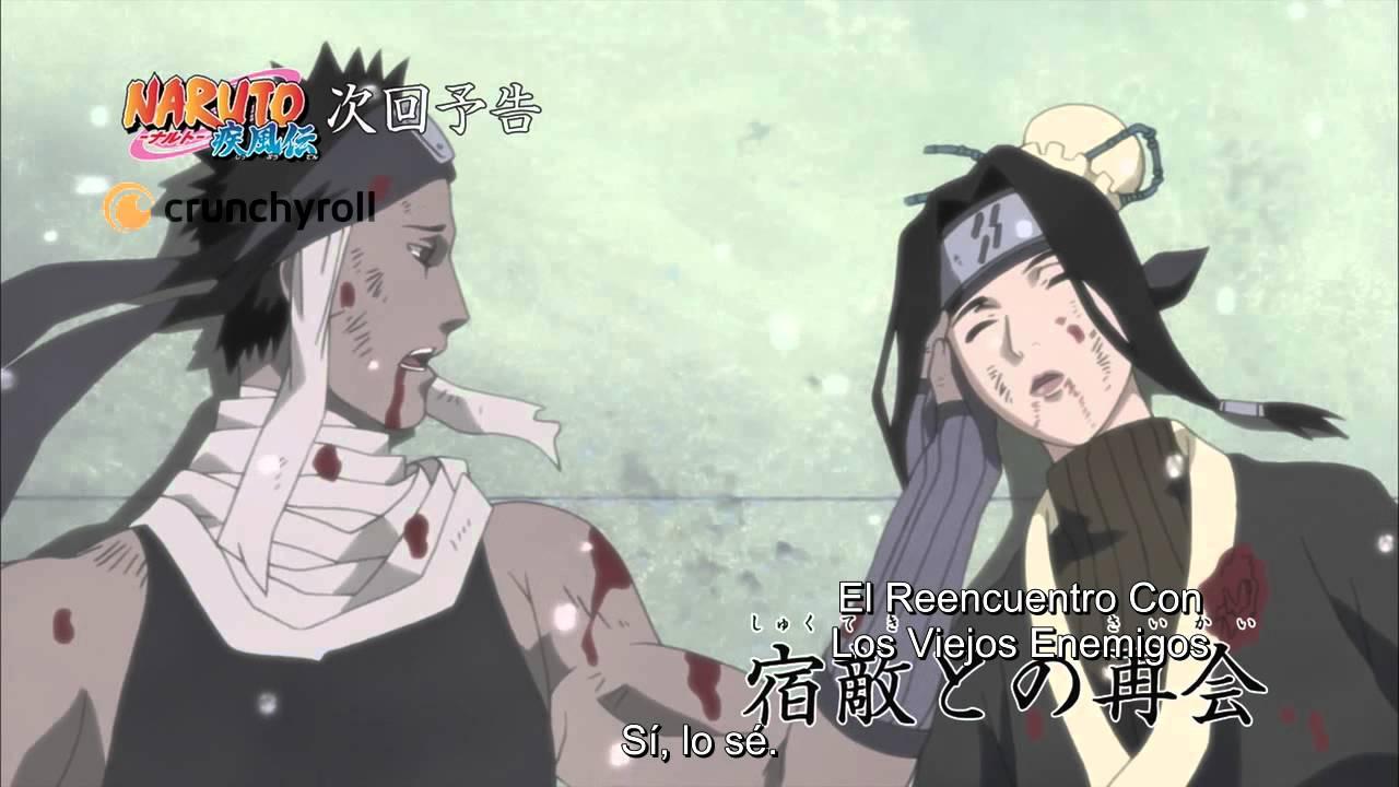 265 Avances Oficiales en Español de Naruto Shippuden