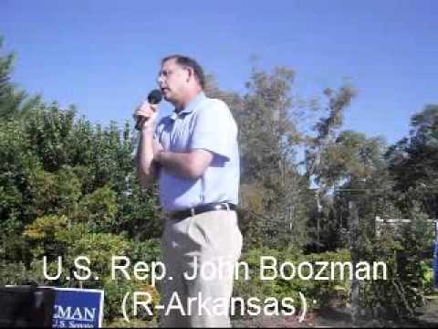 John Boozman speaks in Magnolia