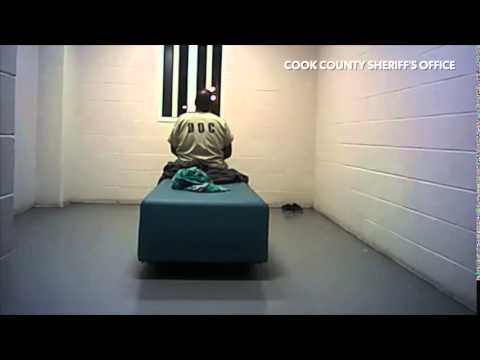 Inmate was determined to gouge out his eye