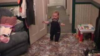 laughing baby First Steps