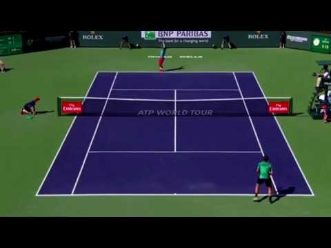 Topspin Returns Federer Indian Wells 2017