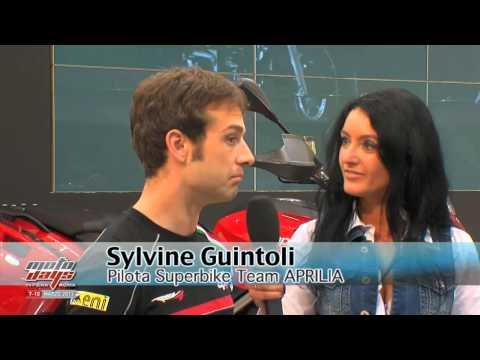 Sylvain Guintoli e Eugene Laverty i due piloti SBK Aprilia a Moto Days