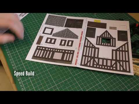Building Metcalfe PO421 Low Relief Half Timbered shop Front