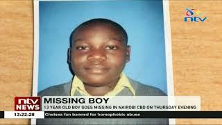 13-year-old boy goes missing in Nairobi CBD on 3rd/1/2019