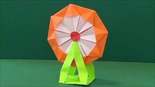 """「観覧車」折り紙""""Ferris wheel"""" origami"""