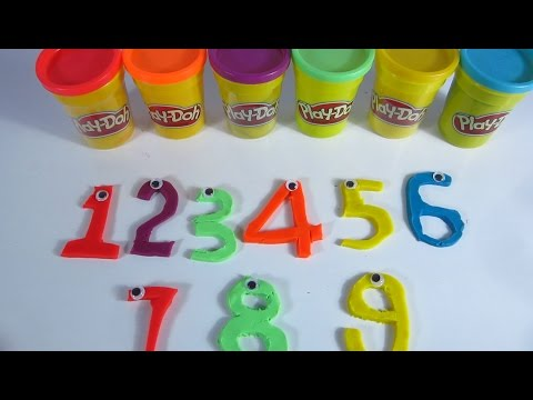 Learn To Count with PLAY-DOH Numbers 123456789 Clay Dough Alphabet Writing Videos  English Play Doh