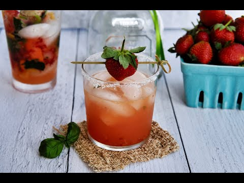 Cocktail Recipe: Strawberry Basil Margaritas by Everyday Gourmet with Blakely