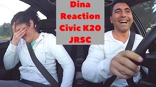 Amiga Dina - Reaction To Honda Civic VTi EG9 K20 SuperCharger