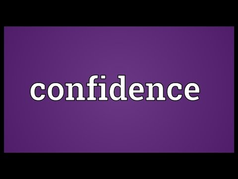 Confidence Meaning