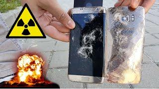 Destrucción Extrema del Galaxy S7 Edge | Casi Explota