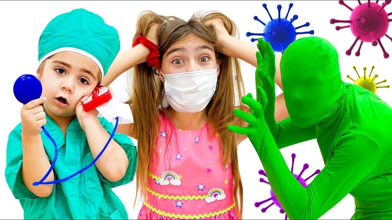 Настя и детские истории про вирусы, Nastya and children's stories about viruses