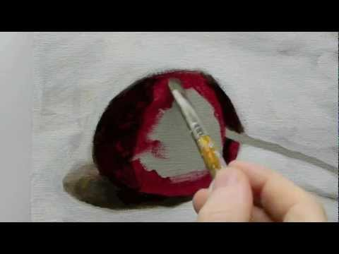 Beginners Acrylic Still Life Painting Techniques demo – Part 2b