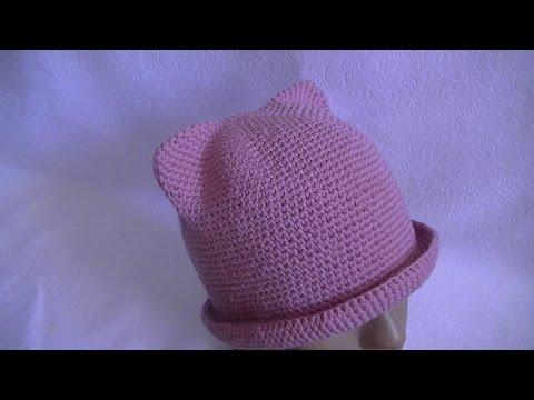 вязание повязка на голову с ушками
