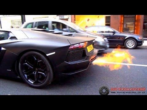 The LOUDEST Lamborghini in LONDON!!! - YouTube on lamborghini with flames, dodge charger shooting flames, koenigsegg agera r shooting flames, lamborghini aventador spitting flames, ferrari f40 shooting flames,