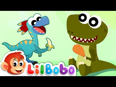 Dinosaur Songs For Kids | Learning About Herbivores, Carnivores & Omnivores | Little BoBo  Rhymes