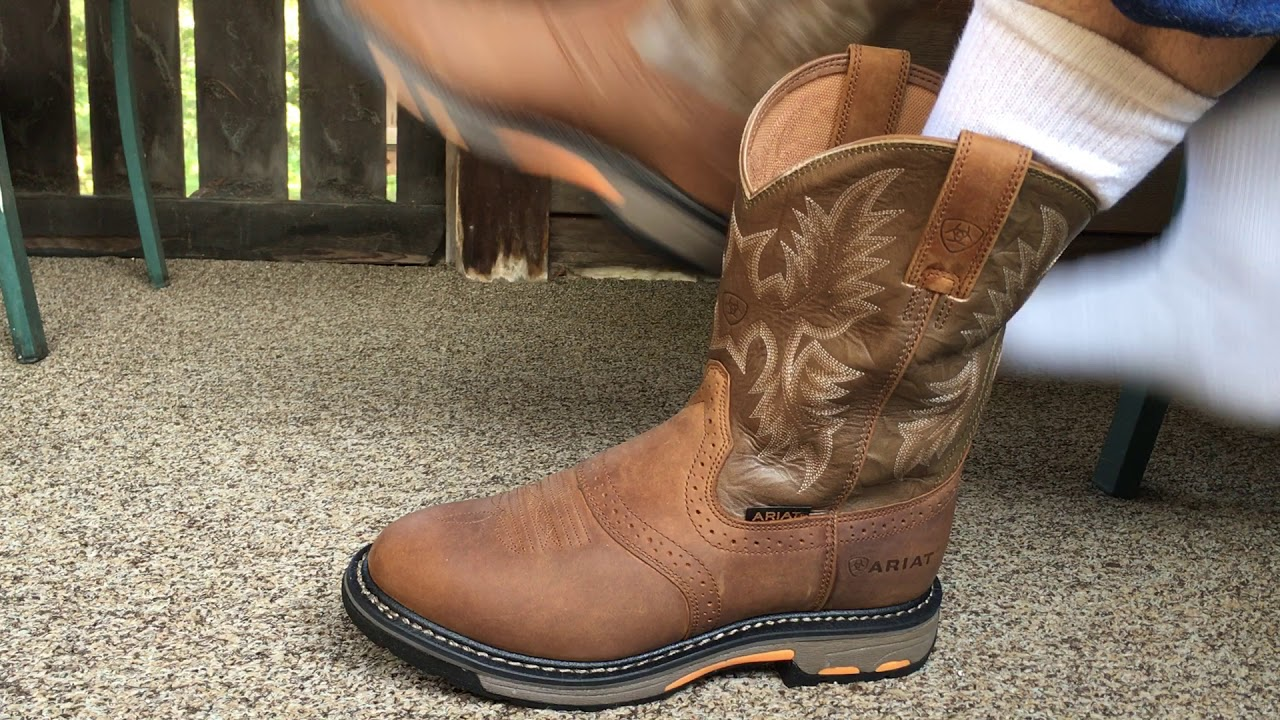 Ariat Mens Workhog Pull On Work Boots