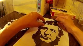 Как сделать качественный пластиковый трафарет. Генри Дэвид Торо. Henry David Thoreau.