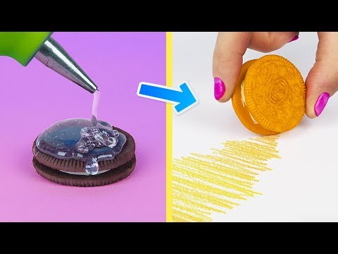 11 Fun Back to School Hacks! DIY Food Style School Supplies