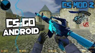 [CS MOD 2] NOVO MOD DO CS:GO PARA CS 1.6 ANDROID! - (Disponível Multiplayer e Singleplayer com Bots)