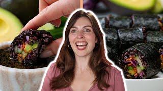 How to Make Vegan Black Rice Sushi by Marie Reginato