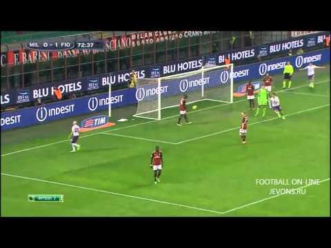 AC Milan 0 -2 Fiorentina (Serie A) HD Highlights  2/11/2013