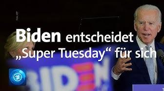 """Vorwahlen der Demokraten: Biden vor Sanders am """"Super Tuesday"""""""