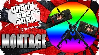 GTA V Online Trolling - STICKY BOMB AND SNIPING MONTAGE! (BAD SPORT, OOPS)