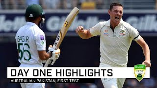 Aussie pace brigade to the fore as Pakistan bowled out | First Domain Test