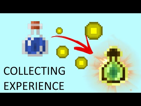 Drop Bottles Near Experience To Store It - Minecraft