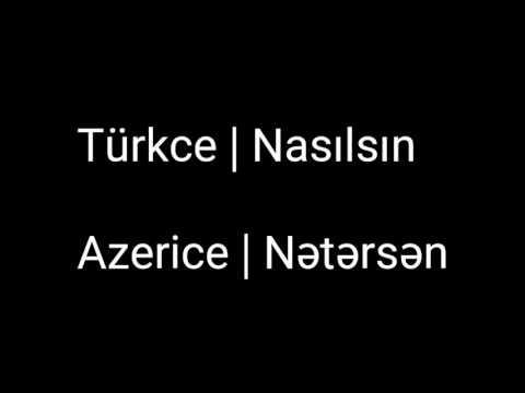 Türkce ve Azerice Sözler çeviri